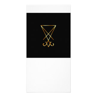The golden sigil of Lucifer Card