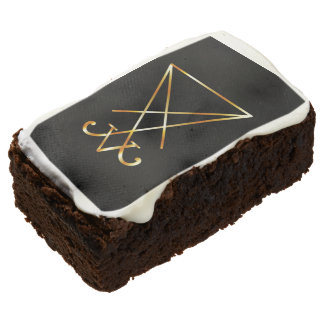 The golden sigil of Lucifer Chocolate Brownie