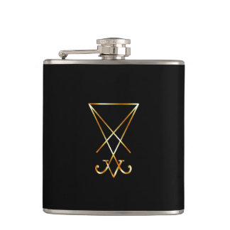 The golden sigil of Lucifer Flask