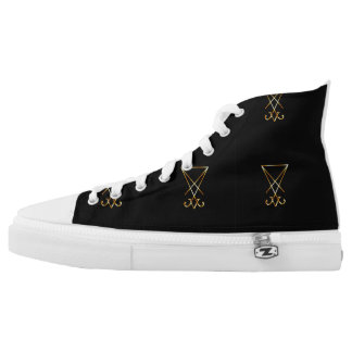The golden sigil of Lucifer High-Top Sneakers