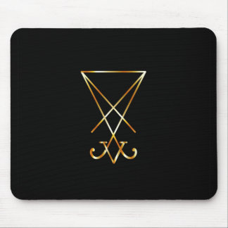 The golden sigil of Lucifer Mouse Pad