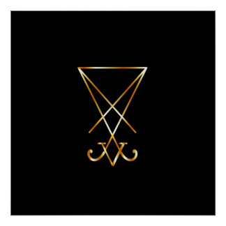 The golden sigil of Lucifer Poster