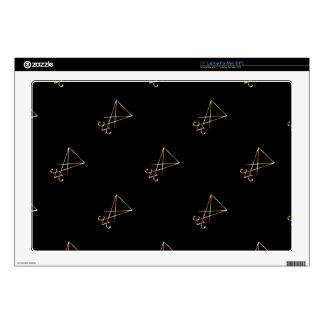 The golden sigil of Lucifer Skin For Laptop