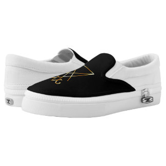 The golden sigil of Lucifer Slip-On Sneakers
