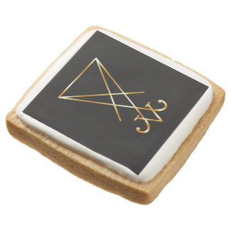 The golden sigil of Lucifer Square Shortbread Cookie