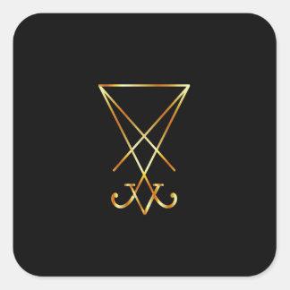 The golden sigil of Lucifer Square Sticker