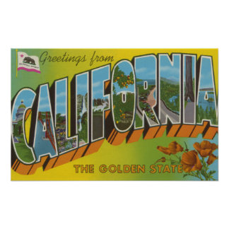The Golden State - Large Letter Scenes Poster