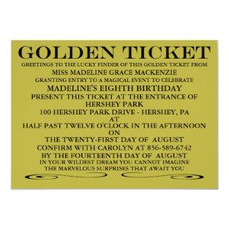 The Golden Ticket Birthday Invitation