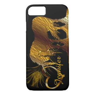 The Golden Unicorn (black) iPhone 8/7 Case