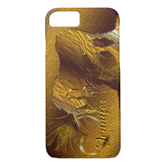 The Golden Unicorn (gold background) iPhone 8/7 Case