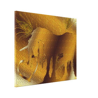 The Golden Unicorn (gold) Canvas Print