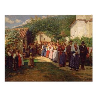The Golden Wedding (oil on canvas) Postcard