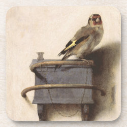 Beverage Coaster with The Goldfinch by Carel Fabritius design