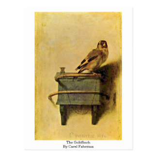 The Goldfinch. By Carel Fabritius Postcard