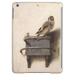 Case Savvy Glossy Finish iPad Air Case with The Goldfinch by Carel Fabritius design