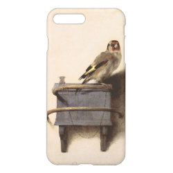Zazzle iPhone 7 Plus Case with The Goldfinch by Carel Fabritius design