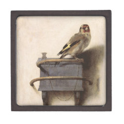 Medium (3' X 3') Gift Box with The Goldfinch by Carel Fabritius design