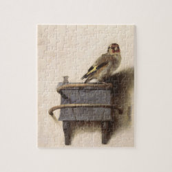 8x10 Photo Puzzle with Gift Box with The Goldfinch by Carel Fabritius design