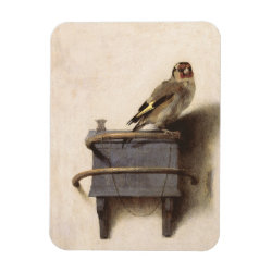 3'x4' Photo Magnet with The Goldfinch by Carel Fabritius design
