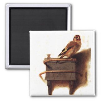 The Goldfinch 2 Inch Square Magnet