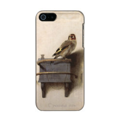 Incipio Feather Shine iPhone 5/5s Case with The Goldfinch by Carel Fabritius design