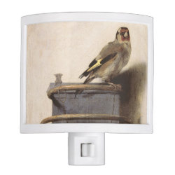 Night Light with The Goldfinch by Carel Fabritius design