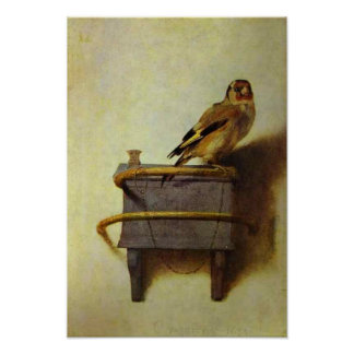 """""""The Goldfinch"""" painting reproduction Poster"""