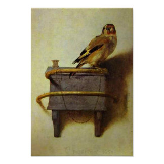"""The Goldfinch"" painting reproduction Posters"