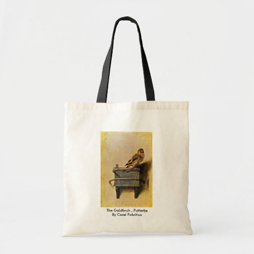 The Goldfinch., Puttertje  By Carel Fabritius Bag