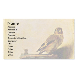 The Goldfinch., Puttertje  By Carel Fabritius Double-Sided Standard Business Cards (Pack Of 100)