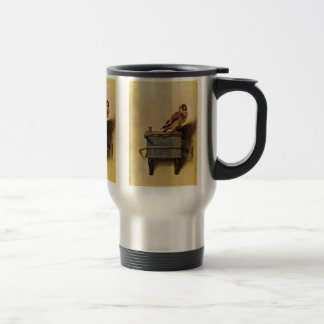 The Goldfinch., Puttertje  By Carel Fabritius Travel Mug