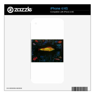 The Goldfish by Paul Klee Skin For iPhone 4S