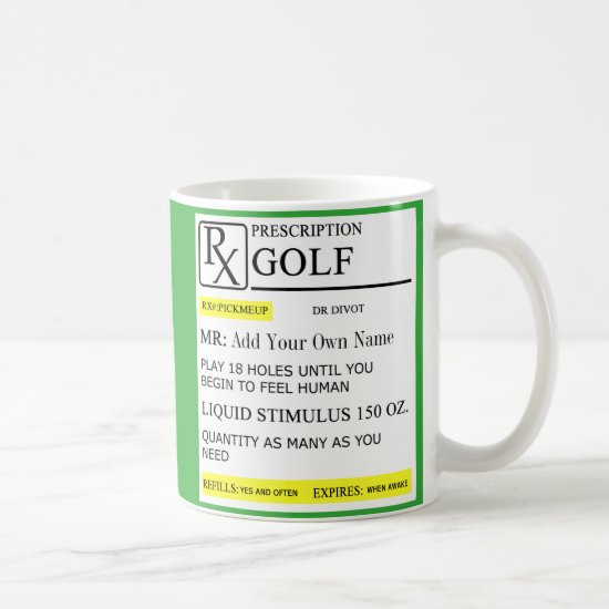 The Golf Prescription Coffee Mug
