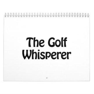 the golf whisperer calendar