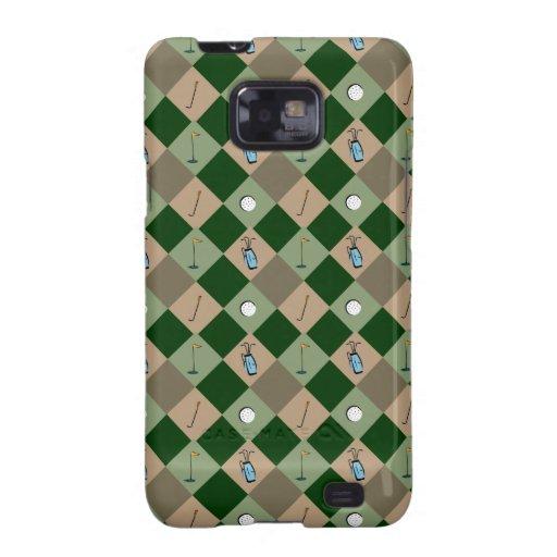 The Golfer Argyle Pattern Samsung Galaxy S Case