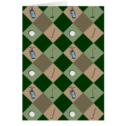 The Golfer Pattern Greeting Card