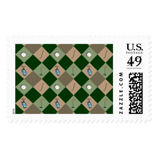 The Golfer Pattern US Postage Stamp