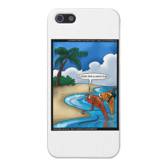 The Golfing Fish Funny Cards & Other Gifts Case For iPhone SE/5/5s