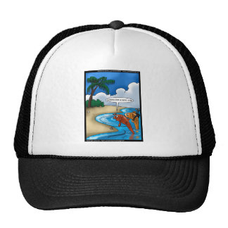The Golfing Fish Funny Tees Cards & Other Gifts Trucker Hat
