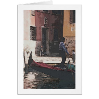 """The Gondolier and the Accordian Player"""" Greeting C Card"""