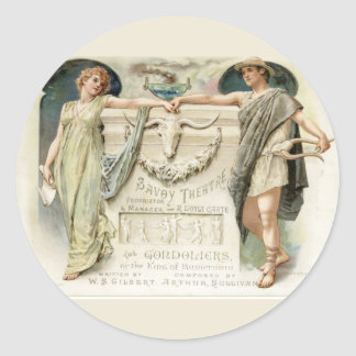 The Gondoliers Classic Round Sticker