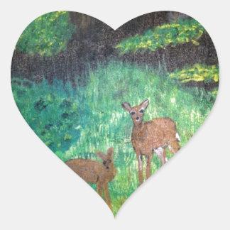 The Gone Forest.  Artist:  J S Shipman Heart Sticker