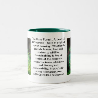 The Gone Forest.  Artist:  J S Shipman Two-Tone Coffee Mug
