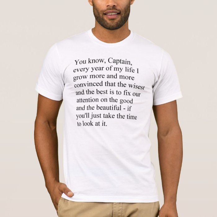 The good and the beautiful men's t-shirt