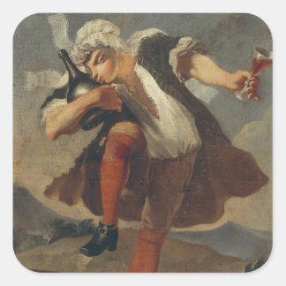 The Good Bottle, wine merchant's sign Square Sticker
