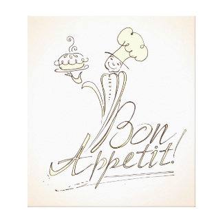 The Good Chef says Bon Appetit! Canvas Print