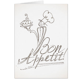 The Good Chef says Bon Appetit! Greeting Card