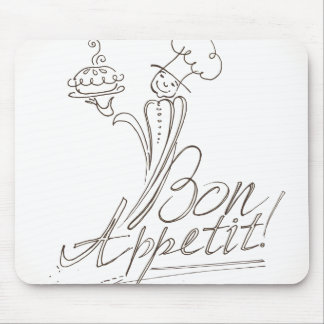 The Good Chef says Bon Appetit! Mouse Pad