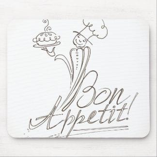 The Good Chef says Bon Appetit! Mouse Pad