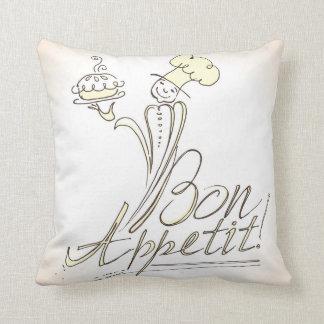 The Good Chef says Bon Appetit! Pillow